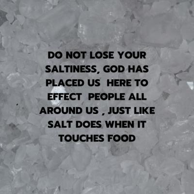 Does your life have salt