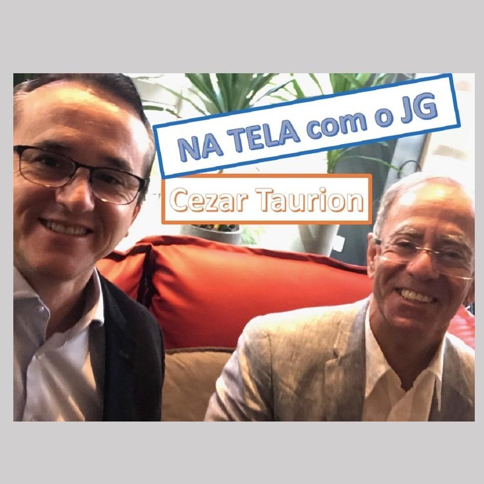 Na tela com JG-Cezar Taurion