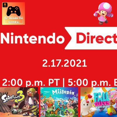 Episode 48 - Résumé du Nintendo Direct du 17/02/2021 : Splatoon 3 en 2022, Fall Guys cet été !