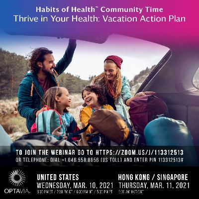 Episode 215: Thrive in Your Health: Vacation Action Plan