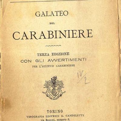 Episodio 28. Il Galateo del Carabinieri di Gian Carlo Grossardi