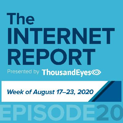 Ep. 20 An IXP And A Streaming Music Provider Walk Into An Outage Bar (Week of Aug. 17-23)