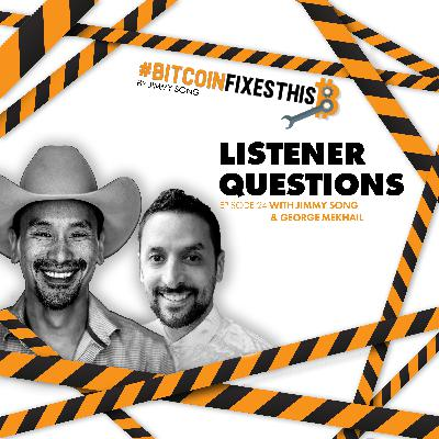 Bitcoin Fixes This #24: Listener Questions with George Mekhail