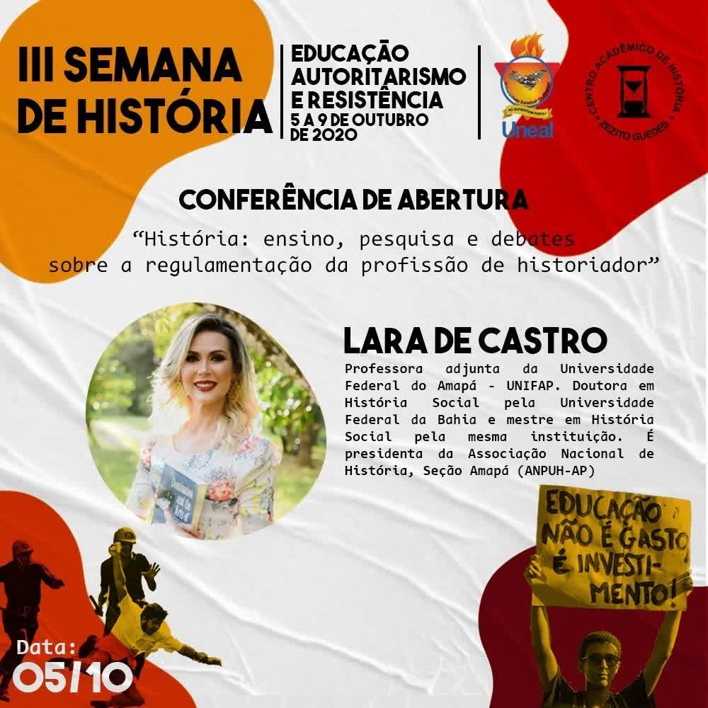 Abertura III SEMANA DE HISTÓRIA 2020