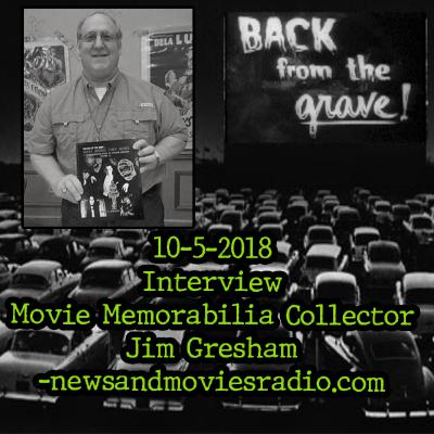 """EPISODE 3: 10-5-2018 INTERVIEW: MOVIE MEMORABILIA COLLECTOR JIM GRESHAM DISCUSSES HIS LATEST BOOK """"WHAT MUSIC THEY MAKE"""" AND COLLECTING MOVIE POSTERS AND LOBBY CARDS OVER THE YEARS -NEWSANDMOVIESRADIO.COM"""