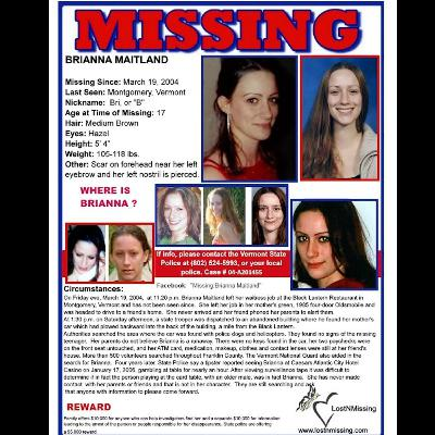 Missing Brianna Maitland - 17 Years Missing