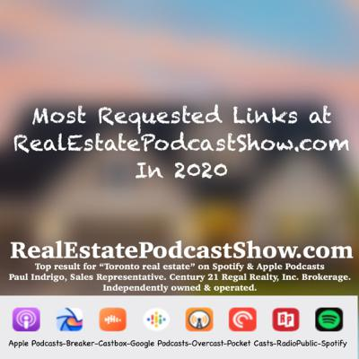 Episode 282: Most Requested Links of 2020 via RealEstatePodcastShow.com