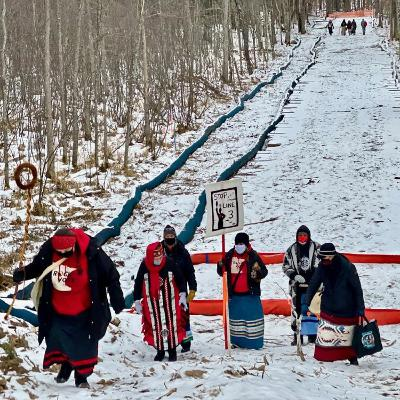 Truth To Power | People's Resistance to Enbridge Line 3 in Minnesota | Feb. 19, 2021