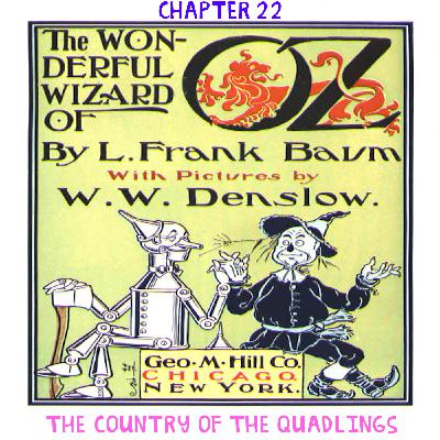 The Wizard of Oz - Chapter 22: The Country of the Quadlings