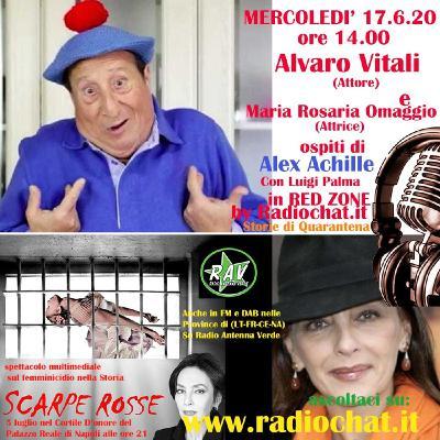 """Maria Rosaria Omaggio e Alvaro Vitali - ospiti di Alex Achille in """"Red Zone"""" by Radiochat.it"""
