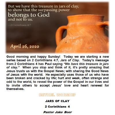 April 26/20   JARS OF CLAY
