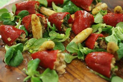 La receta de Robin Food para hacer unos pimientos rellenos en ensalada