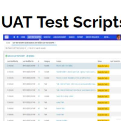 Former Kifinti Solutions Consultant releases a19 UAT Test Scripts Module for Ivanti Best Practices System
