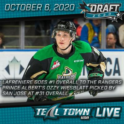 2020 NHL Draft First Round Recap - Teal Town USA Live - 10-6-2020