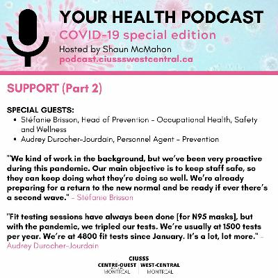 COVID - 19 - Support - E086 Part 2 - Your Health Podcast