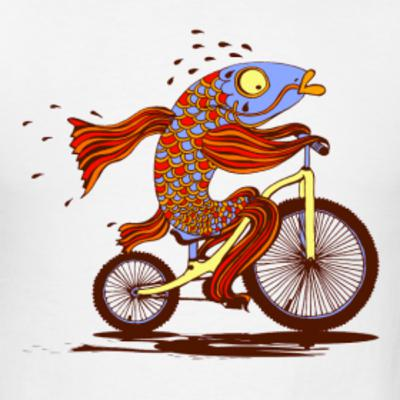 Neal Makes a Raincoat Roof and Sees a Fish on a Bike