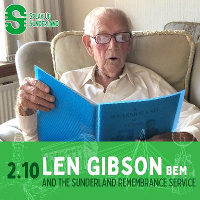 Len Gibson and the Sunderland Remembrance Service