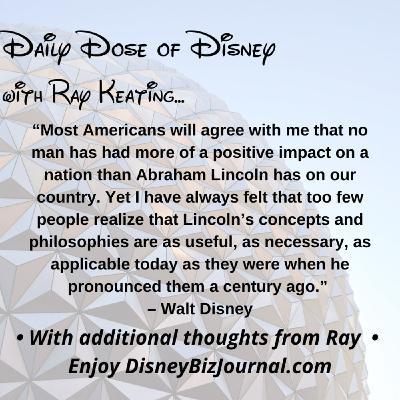 Episode #50: Walt Disney and President Lincoln