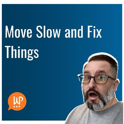 EP384 – Move Slow and Fix Things